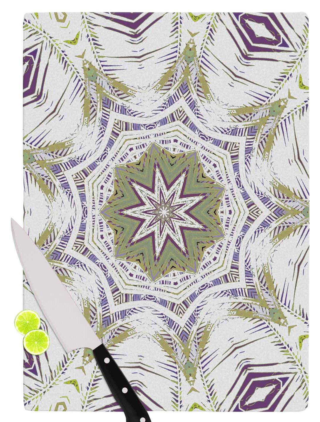 Multicolor 11.5 x 15.75 KESS InHouse Alison CoxonBoho Dream Olive Purple Green Cutting Board