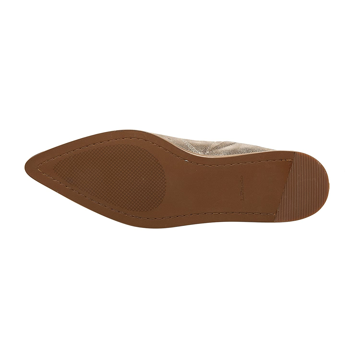 Aubrey | Women's Pointy Toe Slip-On Flat Mule Leather or Suede B079573H5P 10 M US|Taro Gold Leather