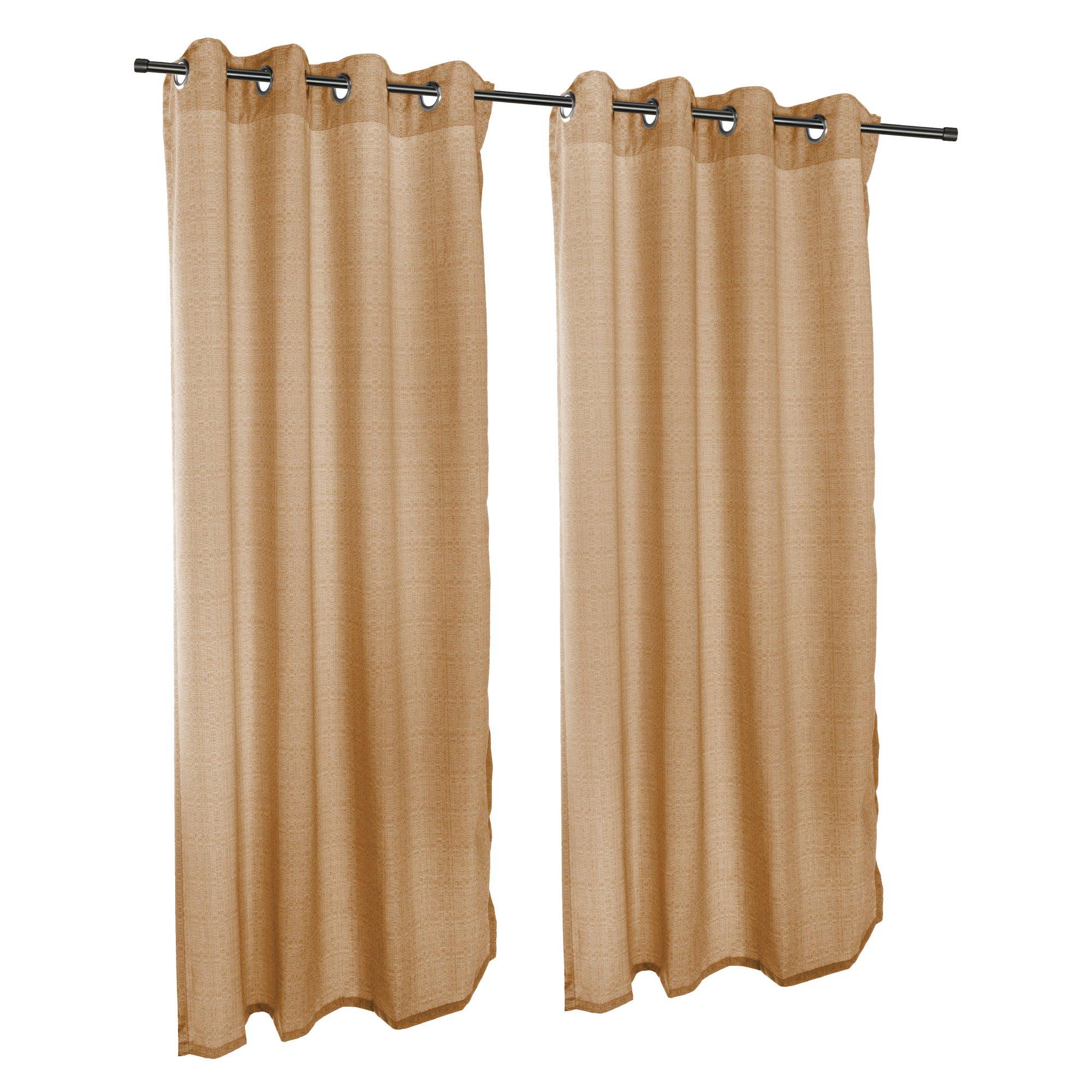 Sunbrella Outdoor Linen Curtain with Grommets