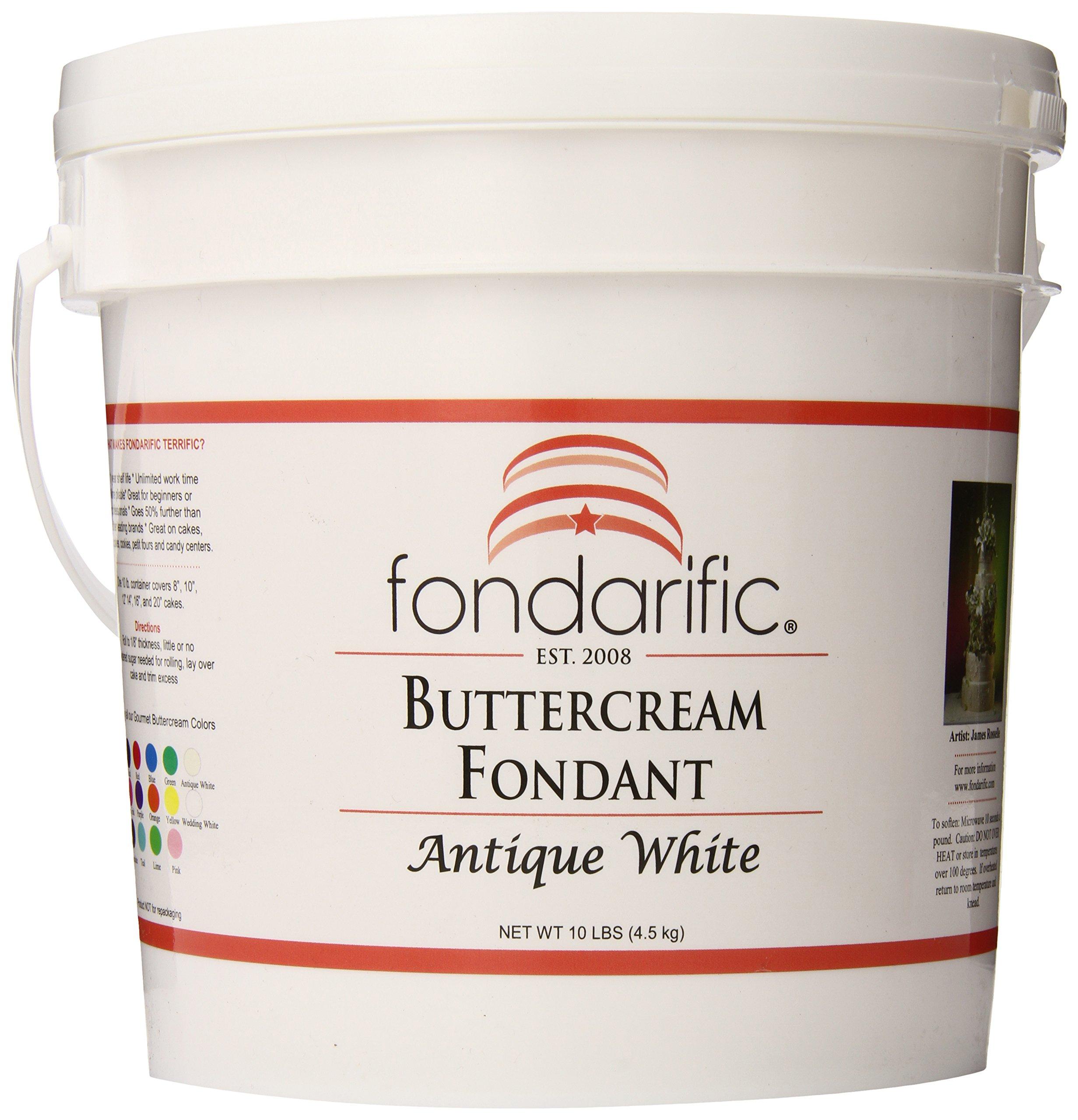 Fondarific Buttercream Antique White Fondant, 10-Pounds