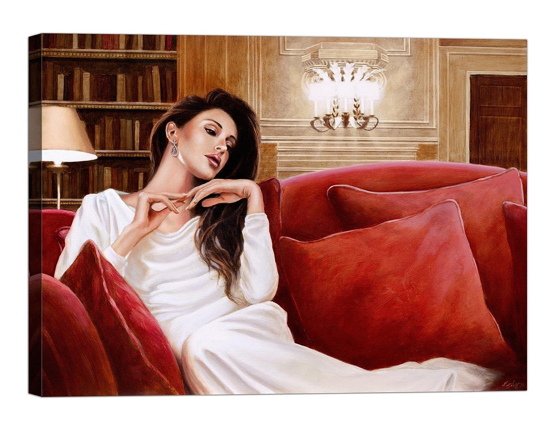 Rahmen Druck auf Leinwand mit Keilrahmen John Silber A Sweet Memory 80x60 CM