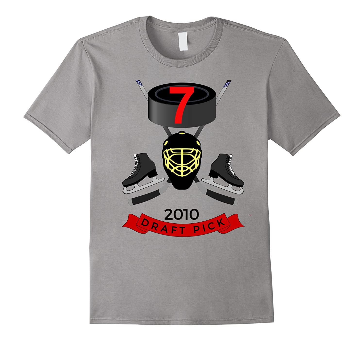 #7 Birthday TShirt - 2010 Draft Pick Hockey Birthday T-Shirt-TH