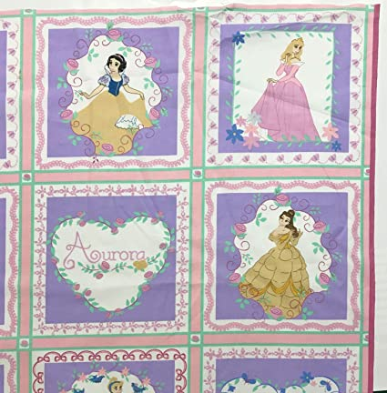 Amazon.com: Disney Princess Quilt Block Fabric Panel - 20 ...