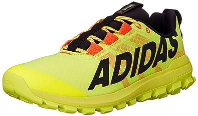 adidas Performance Men's Vigor 6 TR M Running Shoe,Solar Yellow/Black/Red