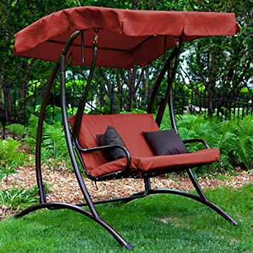 Coral Coast Long Bay 2 Person Canopy Swing   Terra Cotta