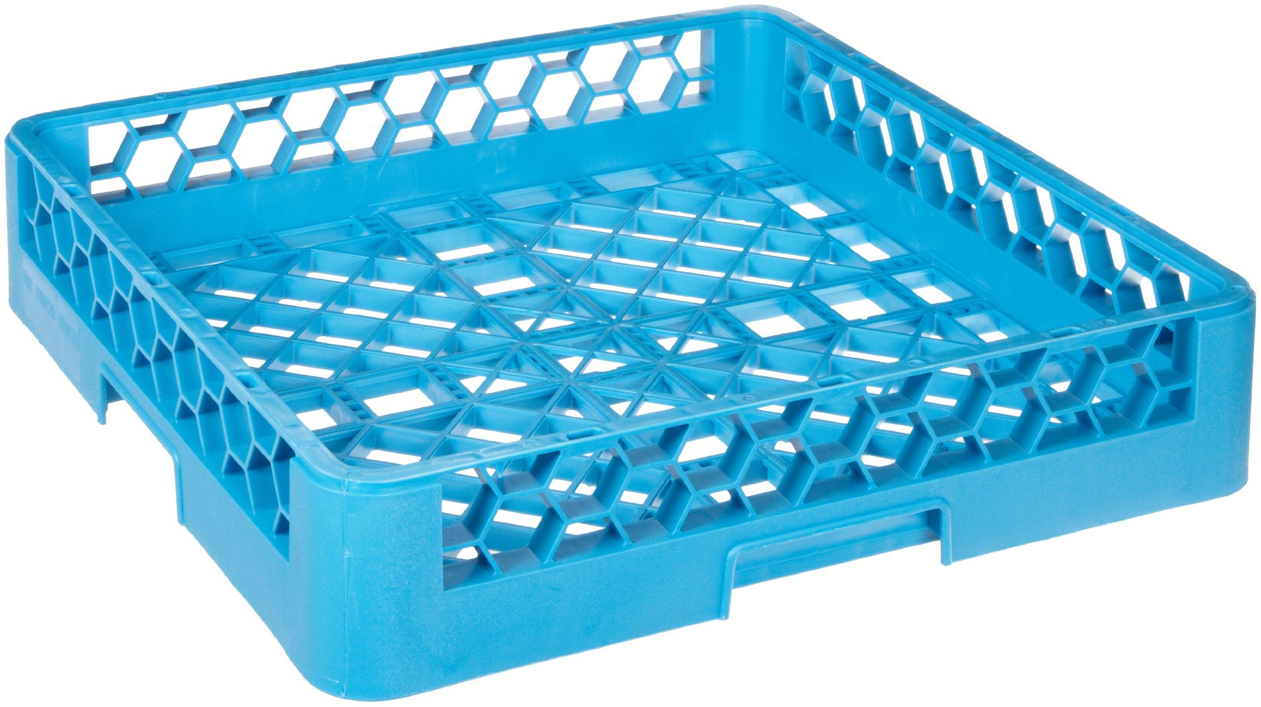 Carlisle RB14 OptiClean Polypropylene Open/Bowl Rack, 19.75 x 19.75 x 4'', Carlisle Blue (Case of 6)