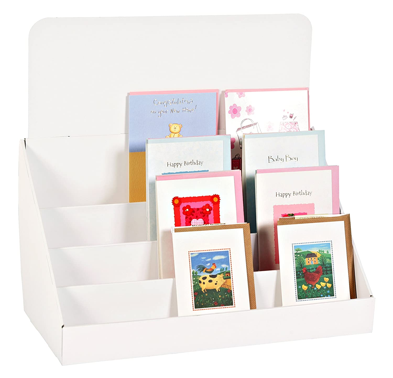 Stand Store 18 Inch 4 Tier Cardboard Greeting Card Display Stand