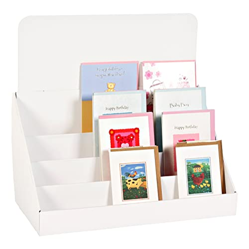 Greeting card stands for display amazon stand store 18 inch 4 tier cardboard greeting card display stand white m4hsunfo