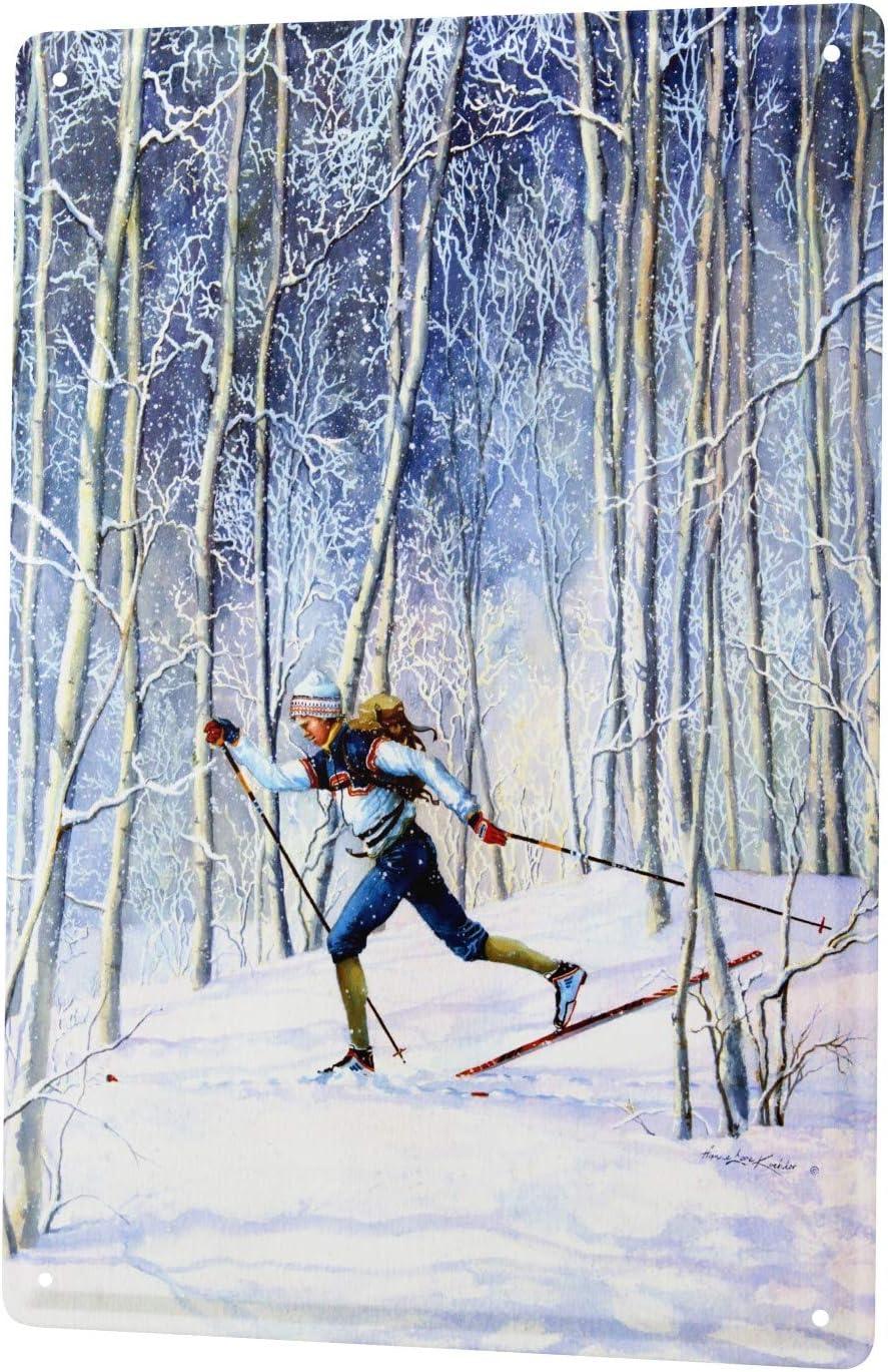 L LEotiE SINCE 2004 H Koehler Sport Plaque en M/étal M/étallique Poster Mural tin Sign Ski de Fond Publicit/é Signes en M/étal 20X30 cm