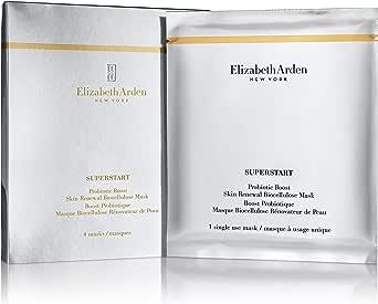Elizabeth Arden Superstart Probiotic Boost Huidvernieuwing Biocellulose Gezichtsmasker, 4-maskers