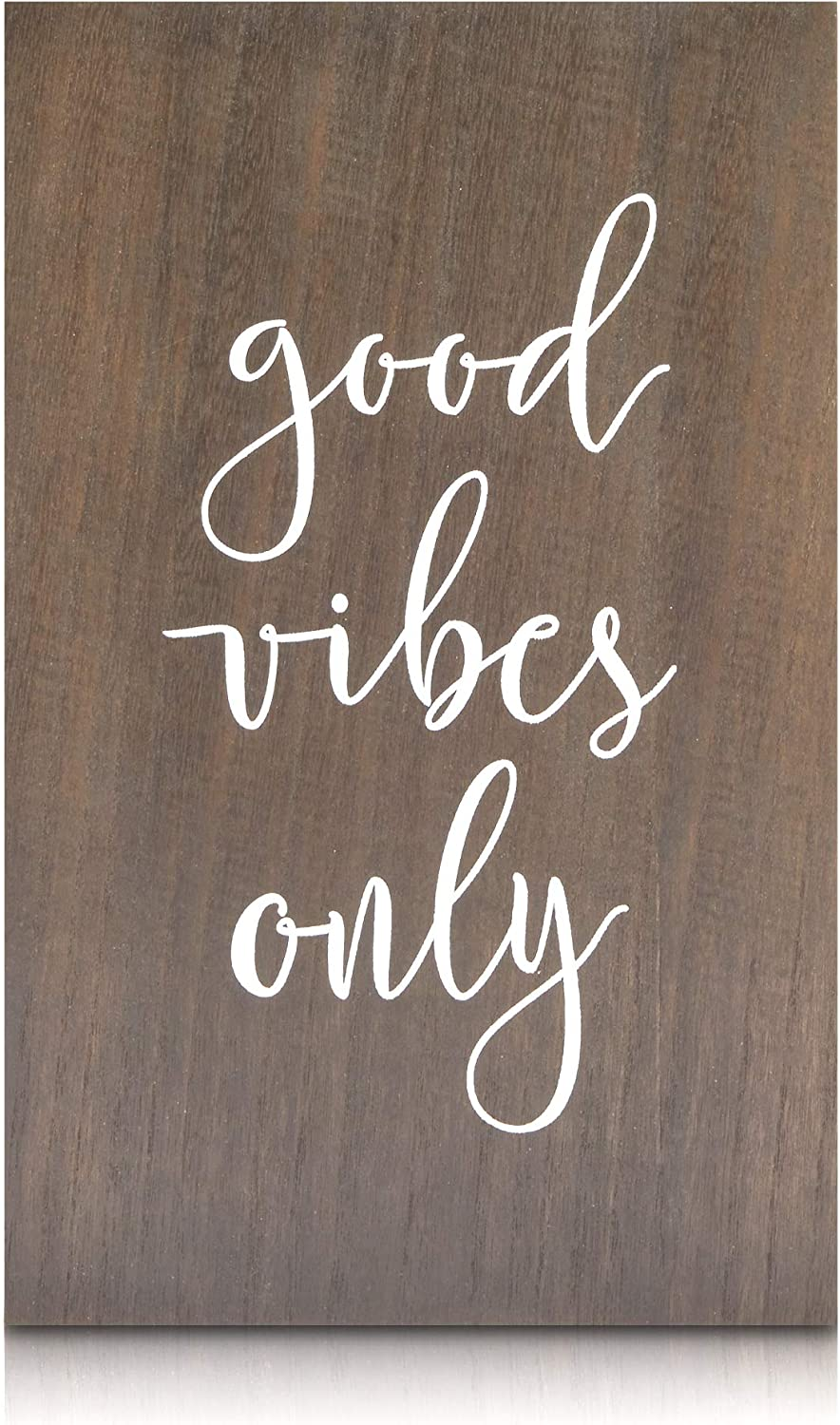 Farmlyn Creek Wooden Wall Sign, Good Vibes Only Home Decor (9.5 x 15 Inches)