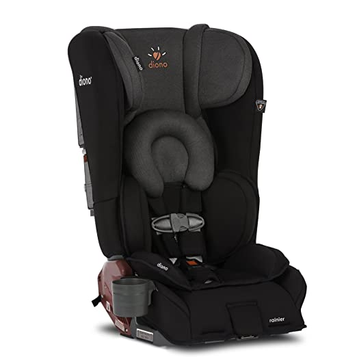Diono Rainier All-In-One Convertible Car Seat, Black Mist