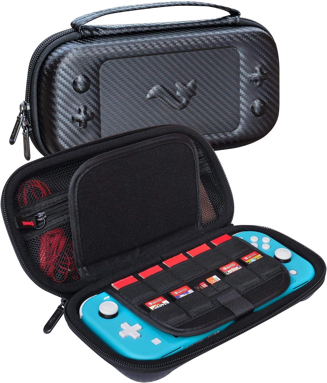 ButterFox Compact Switch Lite - Funda de Transporte para Nintendo Switch Lite con 19 Juegos y 2 Soportes para Tarjetas Micro SD, Color Negro: Amazon.es: Electrónica
