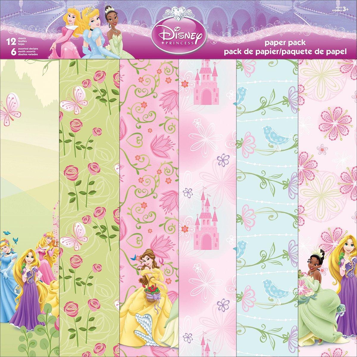 Scrapbook paper disney - Trends International Disney Paper Pack 12 Inch X 12 Inch 12 Sheets Princess