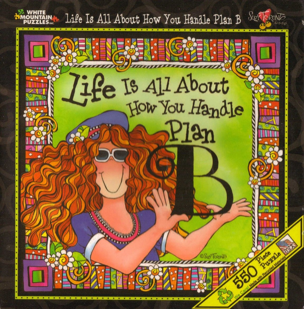 Life Is All About How You Handle Plan B 550 Piece Puzzle white mountain 787W