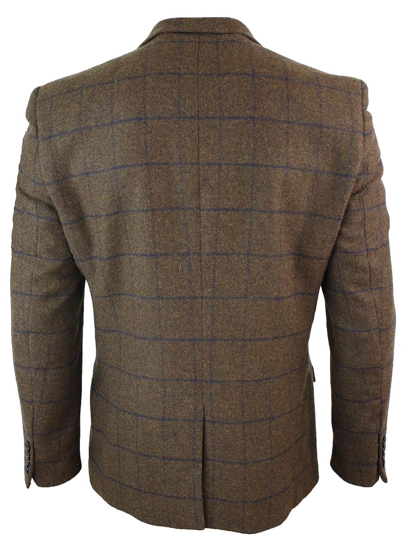 Giacca Elegante Da Uomo Blazer In Tweed Blu Scuro 0e6d9536205