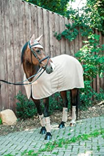 HKM Polaire Tapis Premium Polaire Sweat Absorber Long Cheval Protection Couverture, Beige