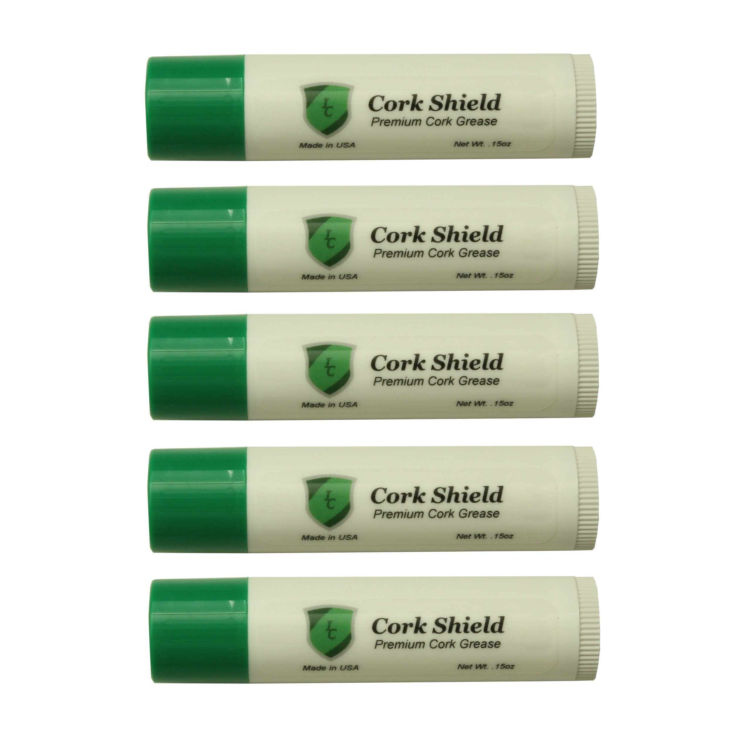 Instrument Clinic Cork Grease Tubes, 5 Pack, Made in USA!