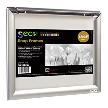 seco front load easy open snap poster frame picture frame 18 x 24 inches