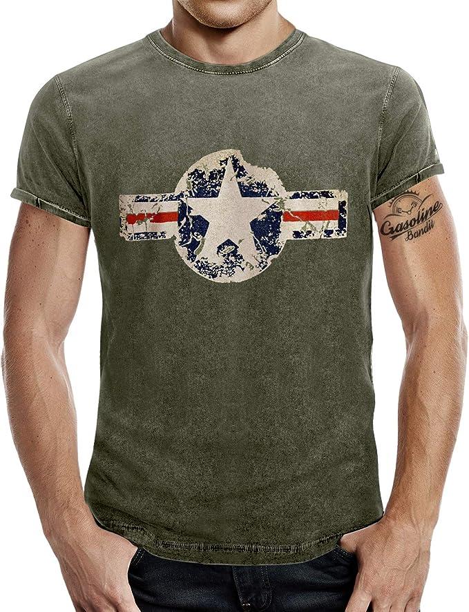 Camiseta para el fan del ejército estadounidense con aspecto de vaqueros desgastados.