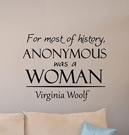 Amazon com: Virginia Woolf Quote Wall Decal for Most of