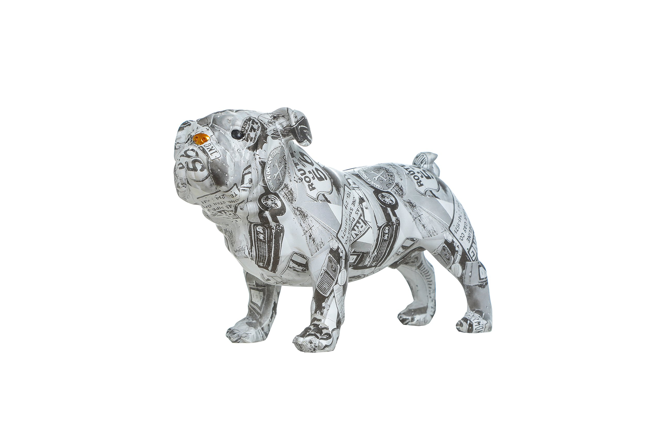 Interior Illusions Plus ii00411 Piggy, Coin Bank, Home Décor, Black/White/Gold