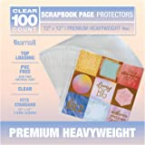 Samsill 100pk 12x12 Scrapbook Refill Page Protectors, Used with 3 Ring 12 x 12 Scrapbook Album, Clear and Archival Safe