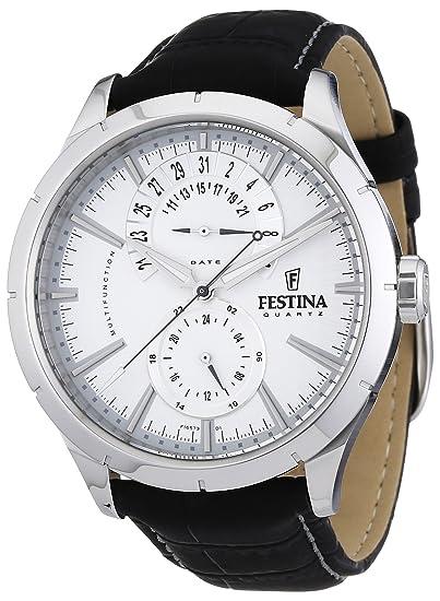 Festina F16573 1 - Reloj analógico de cuarzo para hombre con correa de  piel 43632ad7f4bf