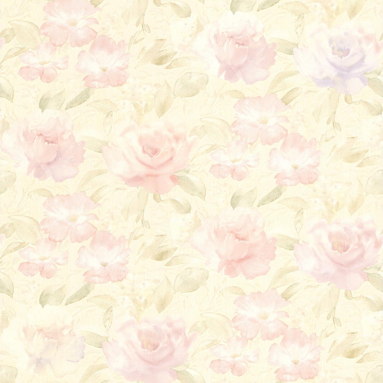 Mirage 989 64840 Whitney Lavender Watercolour Floral Wallpaper