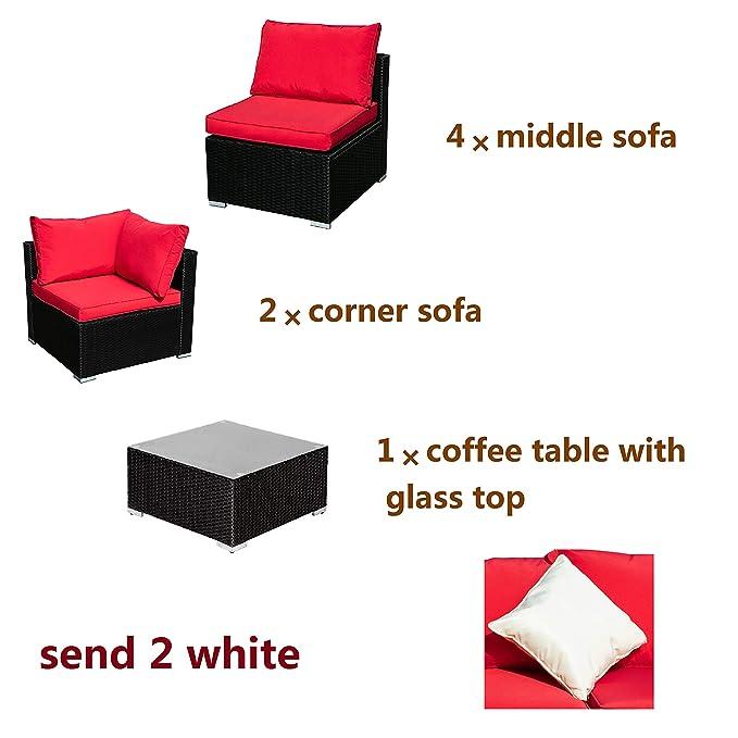 Amazon.com: Leisurelife - Juego de muebles de exterior para ...