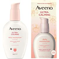 Aveeno Ultra-Calming Daily Facial Moisturizer for Sensitive, Dry Skin with Broad Spectrum SPF 15 Sunscreen, Feverfew…
