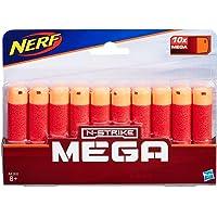 Hasbro A4368000 NERF MEGA- 10 Pack Official Darts- Compatible with Fortnite TS Tactical Shotgun, Mastodon, Twinshock…