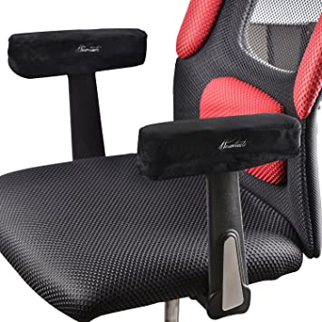 Warmtaste   Memory Foam Arm Pads Office Computer Arm Chair Pads  Cushion,  Restore,