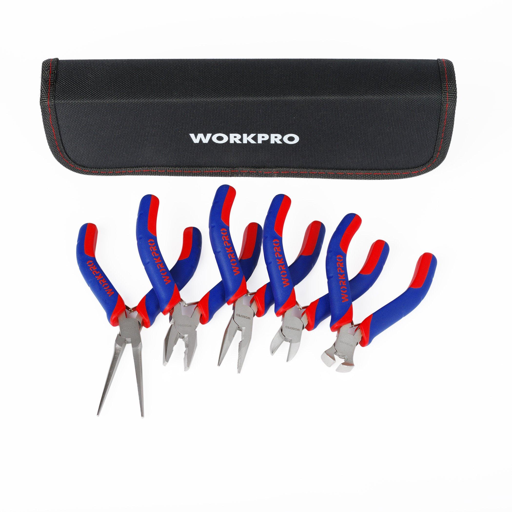 WORKPRO 5-Piece MINI Precision Pliers set