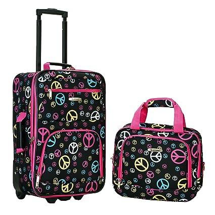 Amazon.com: Rockland, juego de equipaje de dos piezas, Peace ...