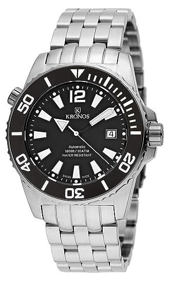 09a17dc2e061 KRONOS - K300 Automatic Ceramic Black White 736N.8.55W - Reloj Diver de  Caballero automático