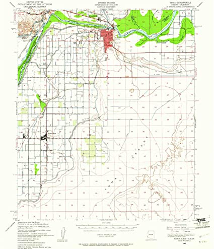 Map Of Yuma Arizona And Surrounding Area.Amazon Com Yellowmaps Yuma Az Topo Map 1 62500 Scale 15 X 15