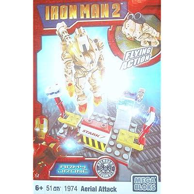 Mega Bloks Ironman 2 Aerial Attack Drone: Toys & Games
