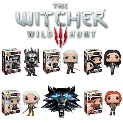 Pop! Games: The Witcher Geralt, Triss, Eredin, Yennefer, Ciri Vinyl Figures  Set of 5