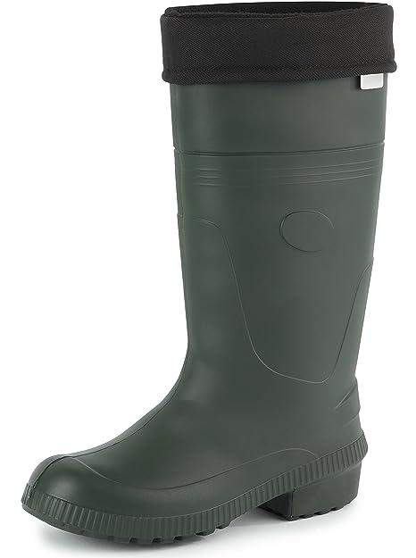 Ladeheid Botas de Agua Forradas Ligeras TRC Termo Zapatos de Seguridad Hombre PA18004 (Oliva,