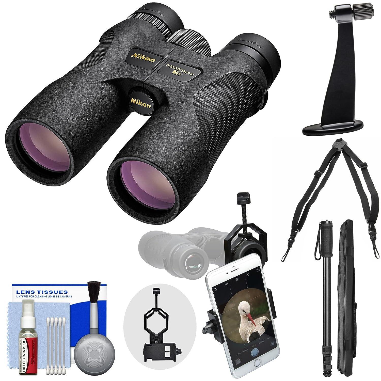 Nikon Prostaff 7s ATB防水/Fogproof双眼鏡with Case +ハーネス+スマートフォンアダプタ+三脚アダプタ+一脚+クリーニングキット B01HIXN30U 小売