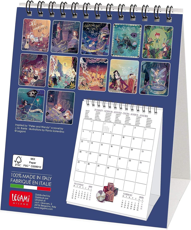 Legami 2020 Table Calendar 12 x 14 cm RETTANGOLARE Cats