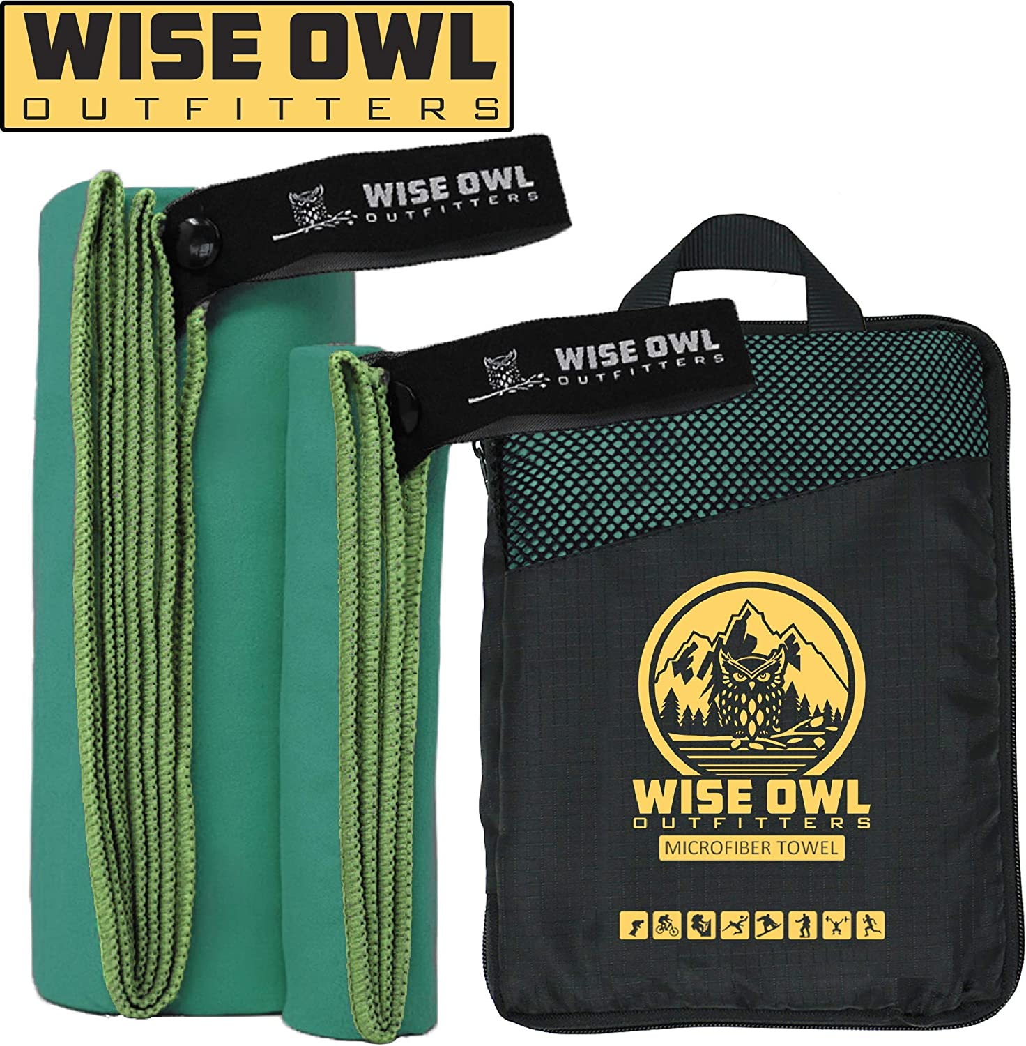Wise Owl Outfitters Quick Dry Camping Towel