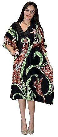 2f183807a22bb SUNROSE Hot Black Elegant Printed Short Beach Cover Up Tube Top Tunic  Kaftan Dress