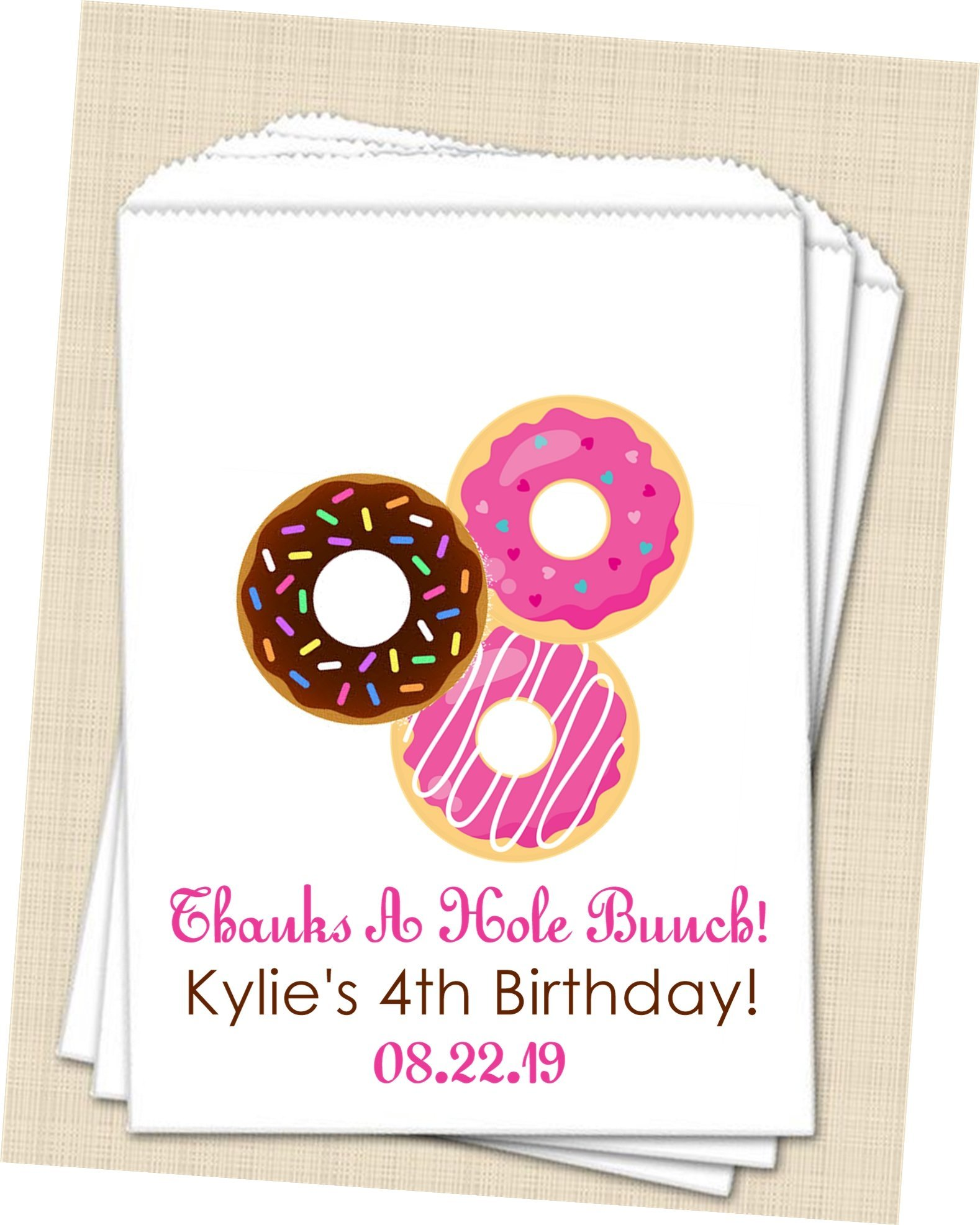 Personalized Donut Party Favor Bags, Donut Bags, Donut Birthday ...
