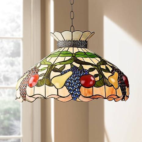 Ripe Fruit 3 Light Tiffany Style Glass Pendant Light Robert Louis Tiffany