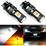 JDM ASTAR Extremely Bright 3030 Chipsets White/Yellow 3157 3155 3457 4157 Switchback LED Bulbs with Projector For Turn…