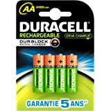 Duracell - Pile Rechargeable - Duralock AAx4 Stay Charged 2400 mAh (HR6)