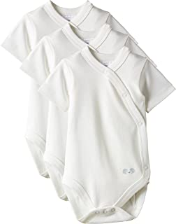 Twins Unisex Baby Organic Cotton Wrap Around Bodysuit Pack Of 3