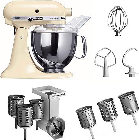 KitchenAid Artisan - Robot de cocina y juego de accesorios, color beige [Importado de Alemania]: Amazon.es: Hogar